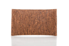cork leather company clutch wallet with button enclosure backside