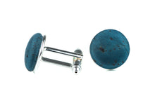 Blue Neck Tie and Cuff Links