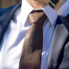 Brown Neck Tie and Cuff Links