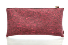 Wine Red Cork Leather Wristlet
