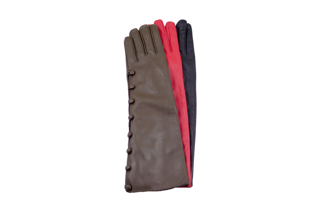 7202 Long Leather Gloves