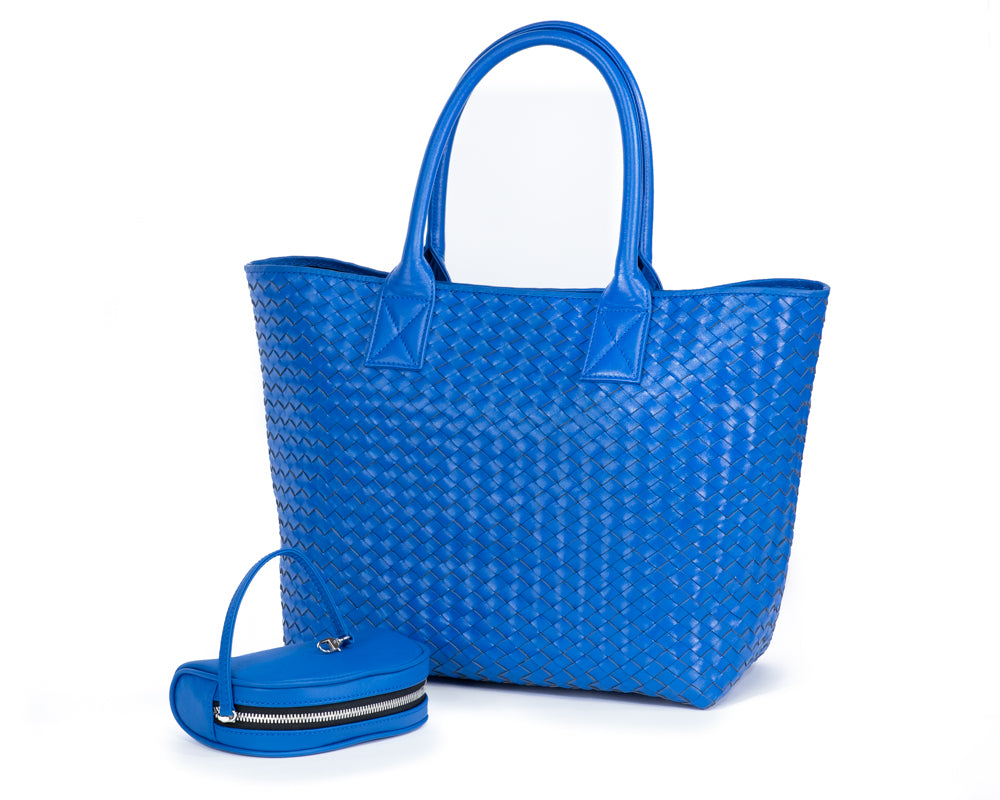 5602 Leather Weave Tote