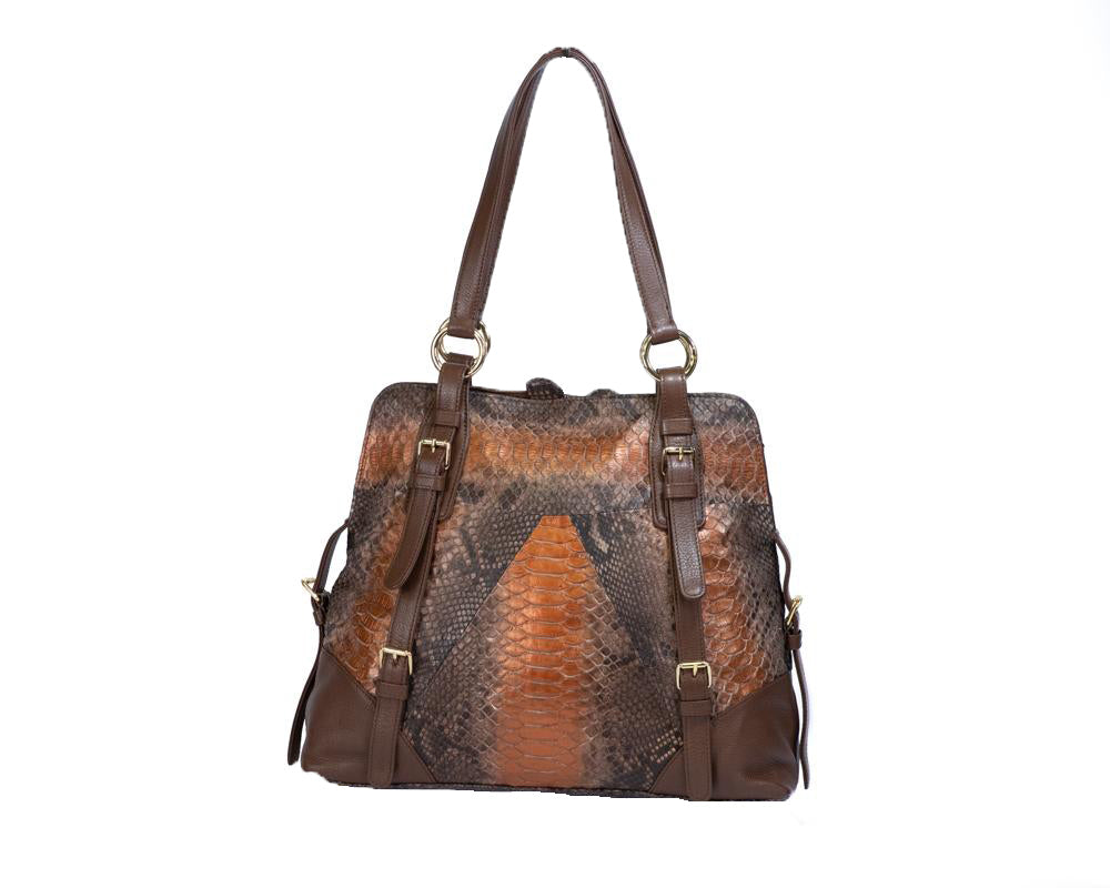 Load image into Gallery viewer, 2808 Python Shoulder Bag