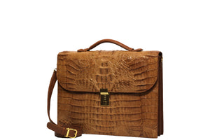 Load image into Gallery viewer, 3902 Crocodile Briefcase (unisex)