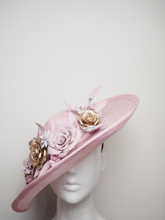 Gentle like a Breeze - Baby Pink Upturned Brim