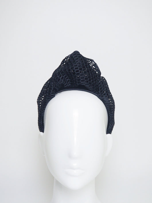 Belle - Black mesh Turban