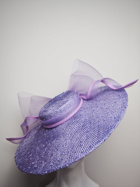 Lilac lady - Lilac Knotted Sloped Boater