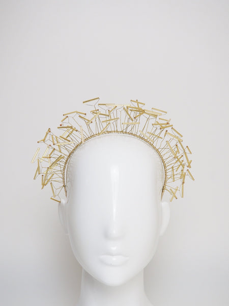 Sarah - bead and wire halo