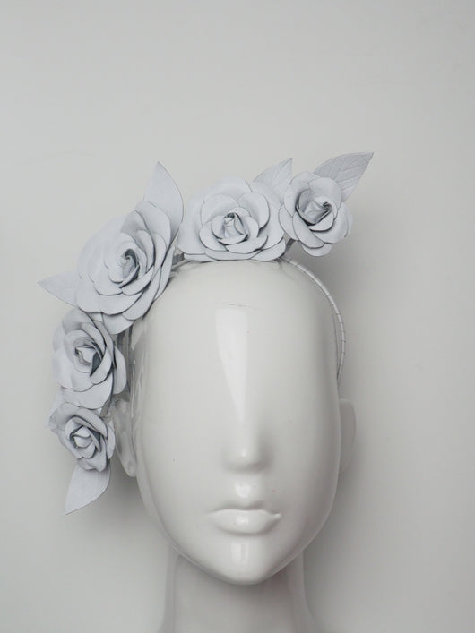 Camellia - Leather Camellia headband - Assorted colours