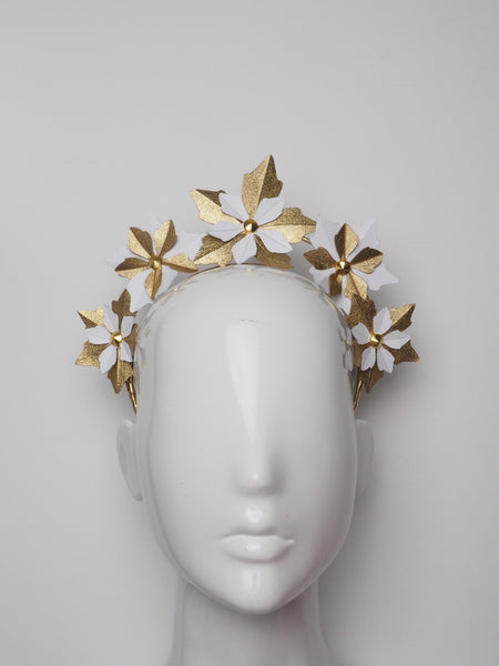 Hera - Leather flower headband - Assorted colours.