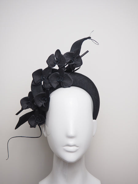 Midnight Dash - Black Orchid Halo Headpiece