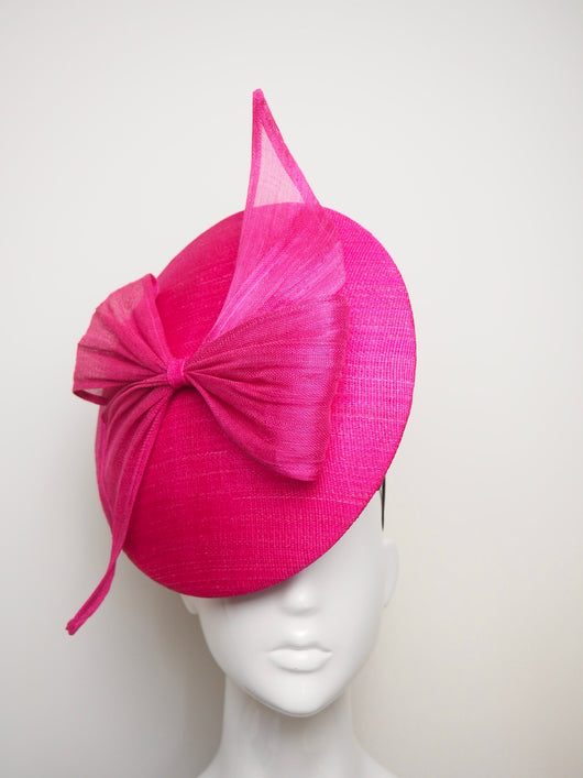 Tied in a Bow - Hot Pink Tinalak Percher with Bow