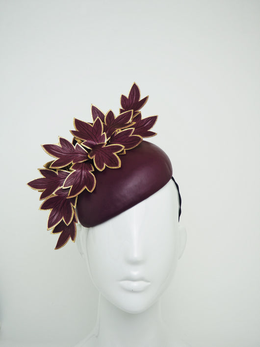 Maroon Maven - Small maroon base with maroon and gold leaves