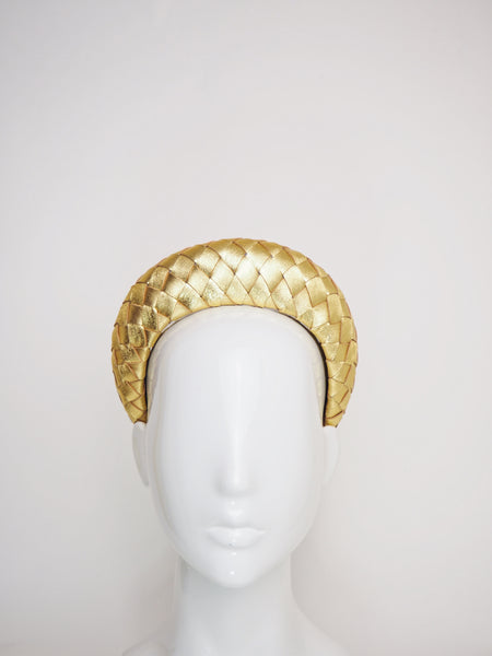 Mia - Leather 3d Halo - Gold