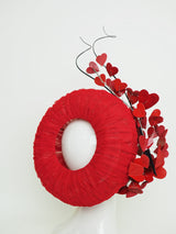 All you need is love - Red tulle doughnut with heart detail