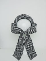 Tied in a Bow - Houndstooth 3d headband with bow.