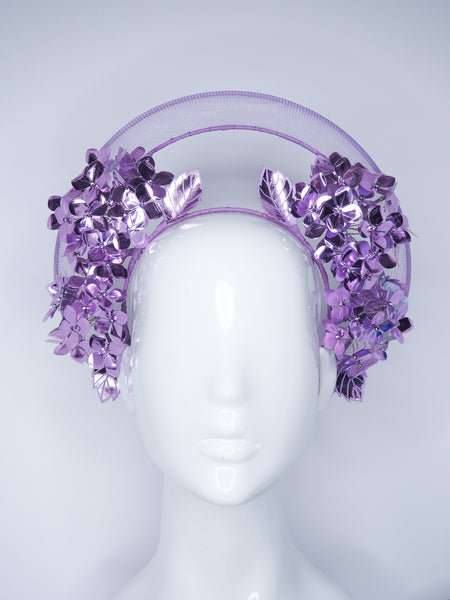 Lovely Lilac - Hydrangea wired Halo headpiece