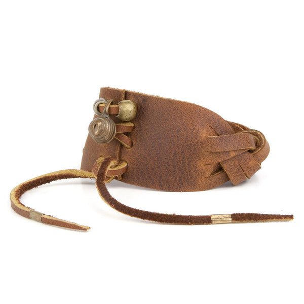 MADRILEÑA CUFF in Distressed Leather