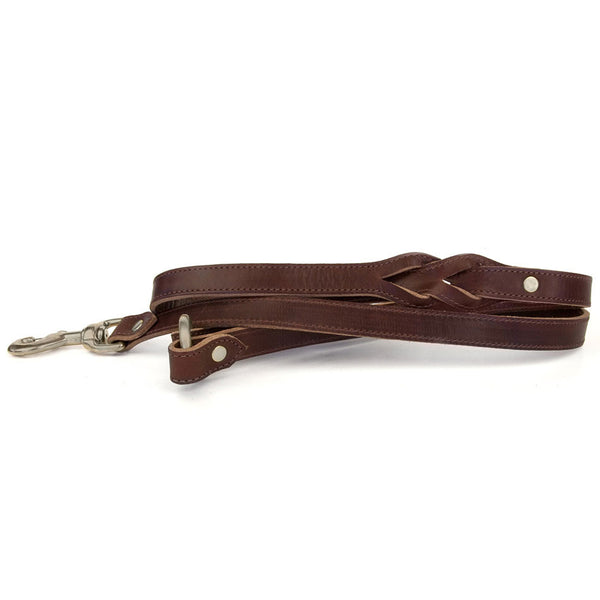 RING DOG LEASH in Brown Bridle Leather