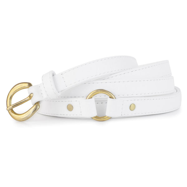 PACHA BELT in White Napa Leather