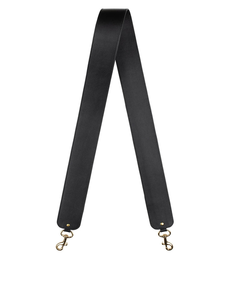 "2"" SHOULDER STRAP in Black Napa"