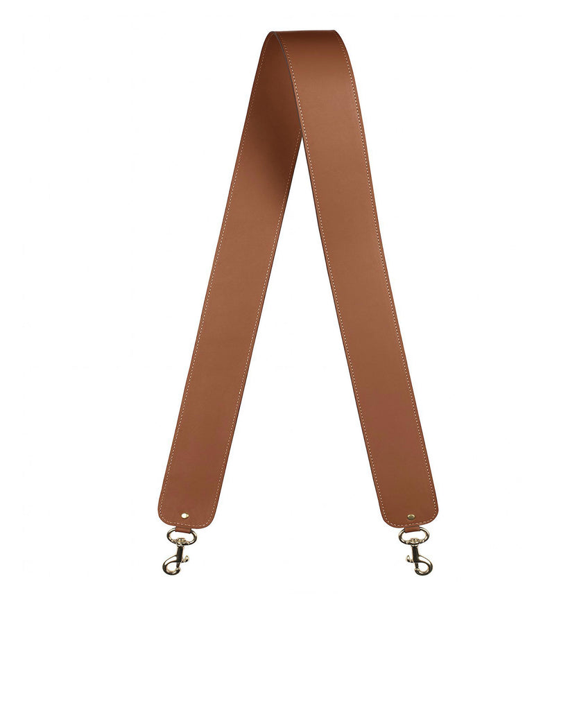 "2"" SHOULDER STRAP in Cognac Napa"