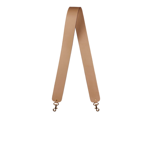 "2"" SHOULDER STRAP in Tan Napa"