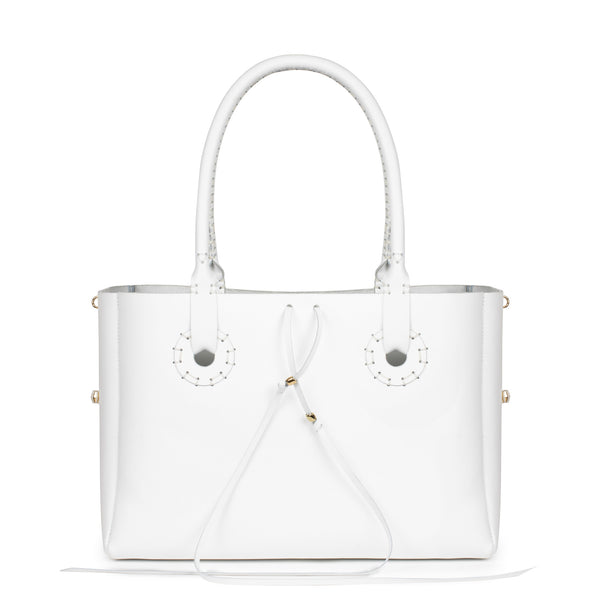 BENJAMINA in White Bridle Leather