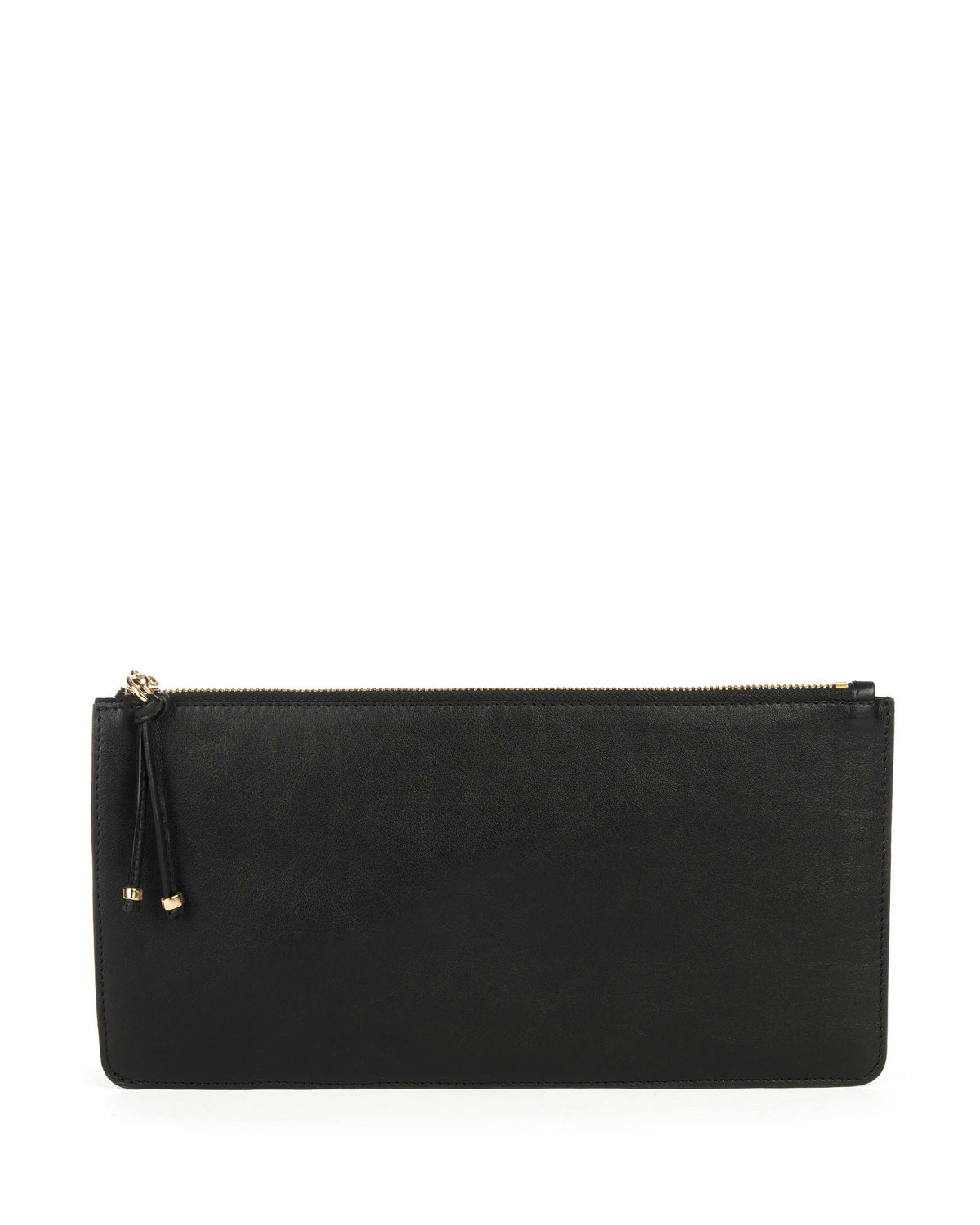 BOLSILLO IV CLUTCH in Black Napa