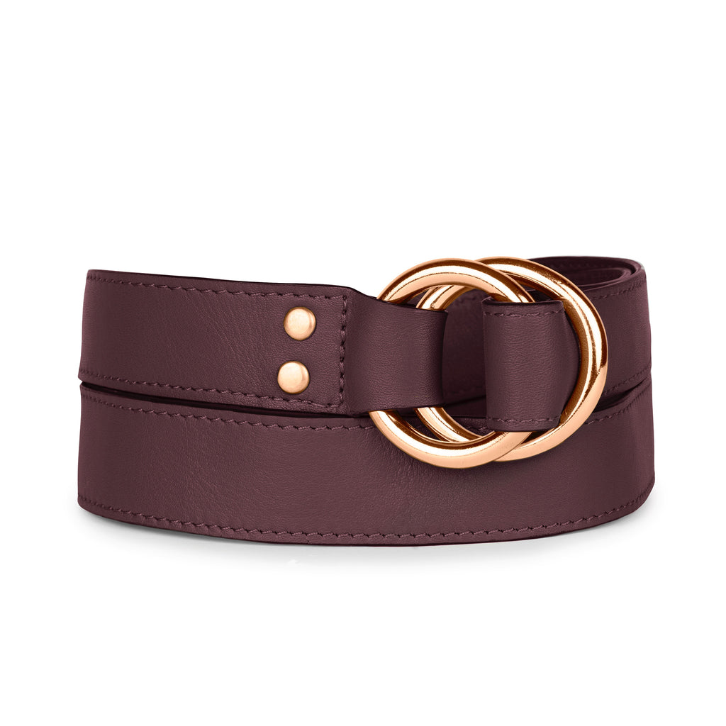 DOUBLE RING BELT in Fino Napa