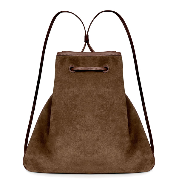 GIRONA BACKPACK in Chocolate Suede