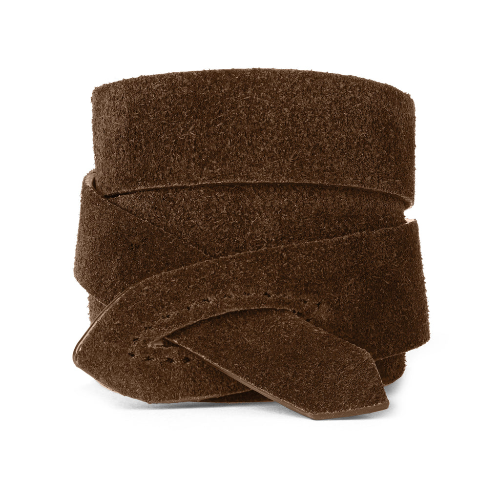 GIRONA WRIST WRAP in Chocolate Suede