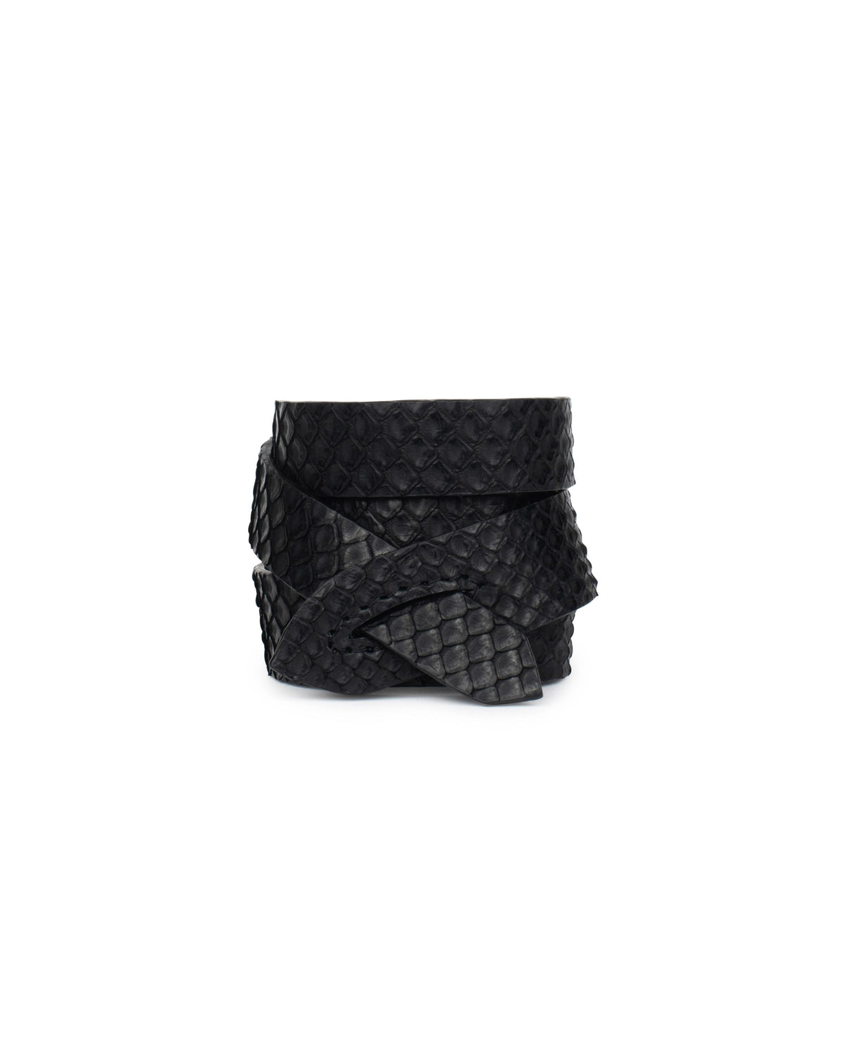 GIRONA WRIST WRAP in Black Embossed Python