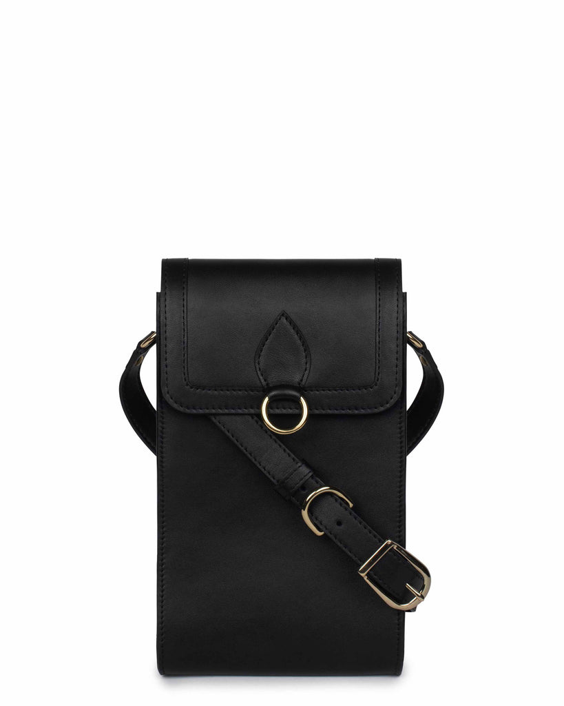 GITANA MESSENGER in Black Napa