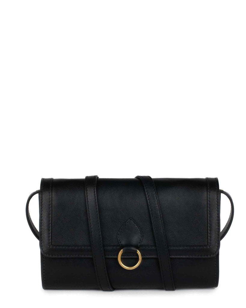 GITANA WALLET in Black Napa
