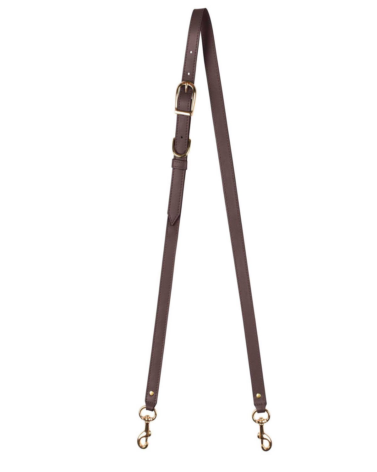 "1/2"" CROSSBODY STRAP in Chocolate Napa"