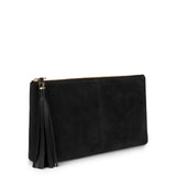 LUPE SINO CLUTCH in Black Suede