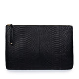 LUPE SINO II CLUTCH in Black Snakeskin