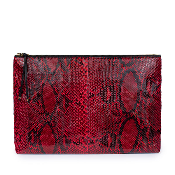 LUPE SINO II CLUTCH  in Sangre Snakeskin