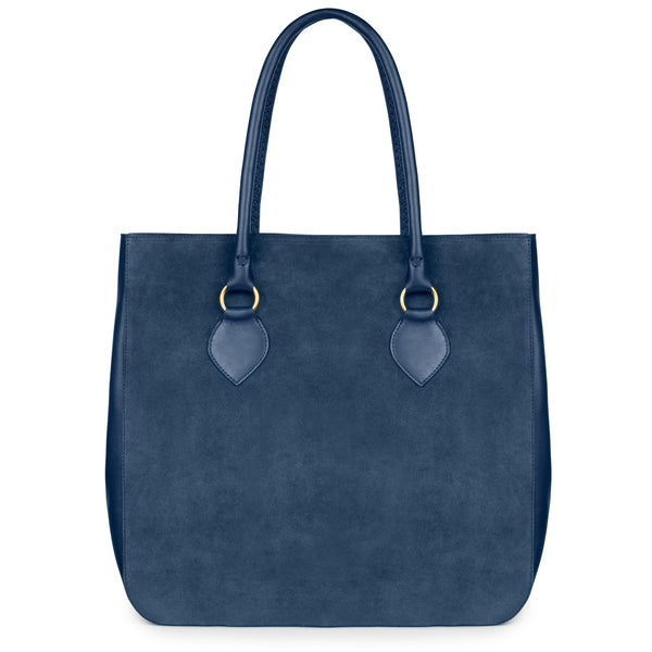 MARLENA in Azul Suede and Napa Leather