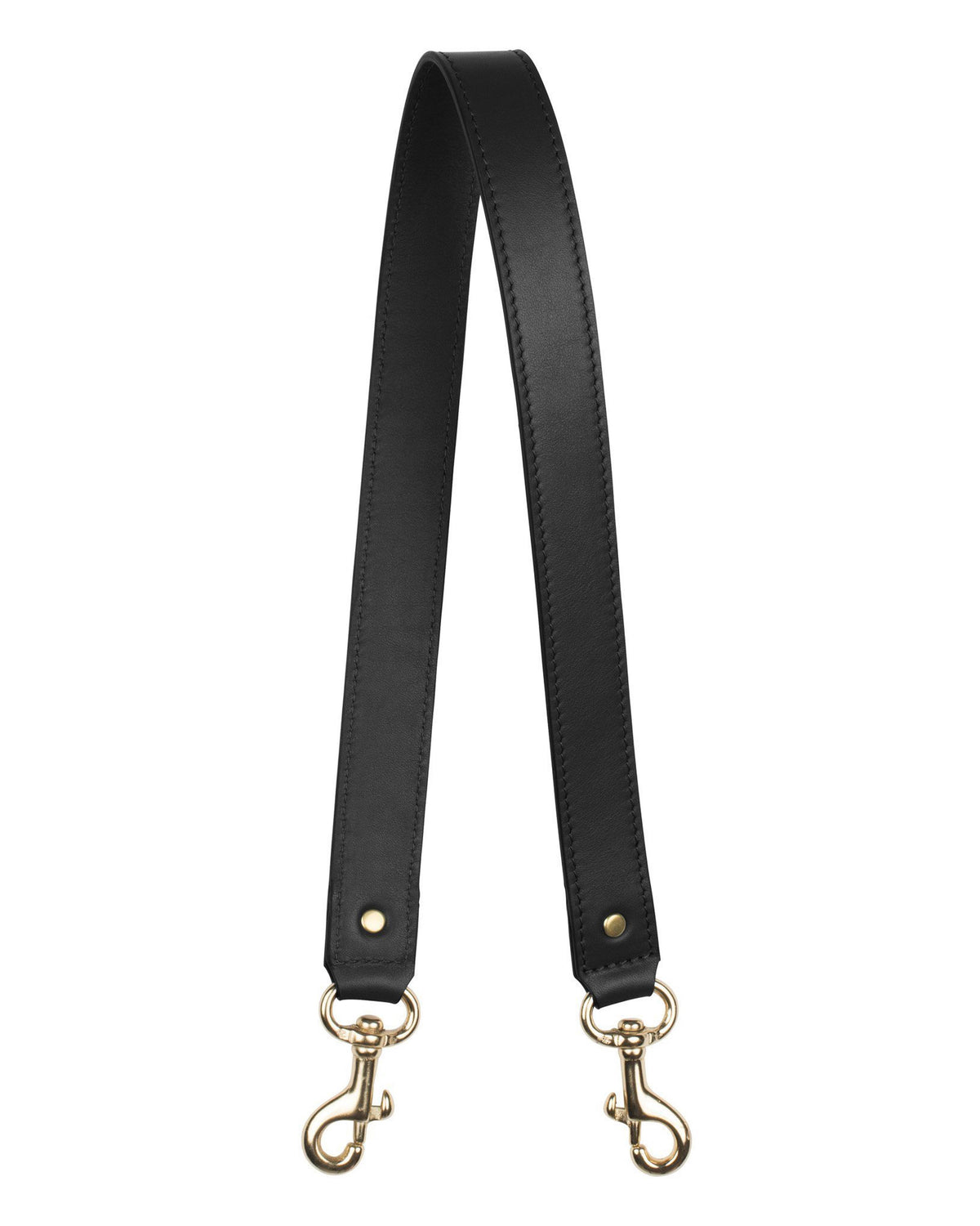 "1"" SHOULDER STRAP in Black Napa"