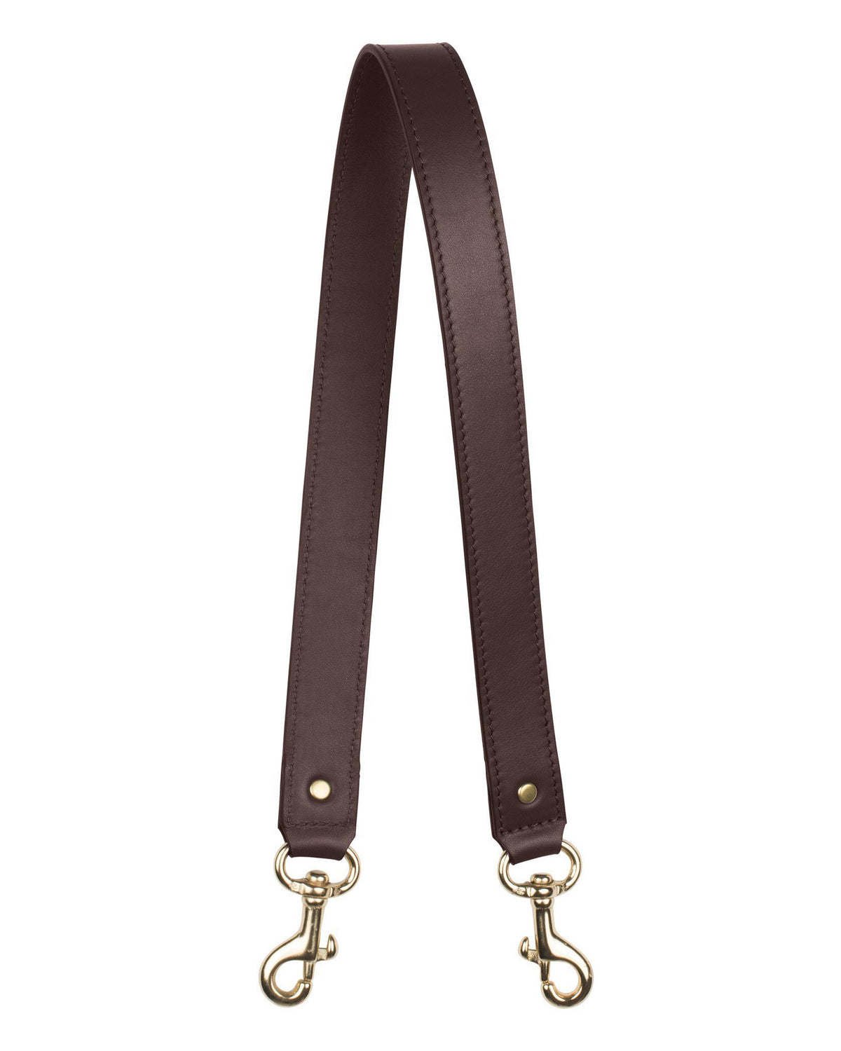 "1"" SHOULDER STRAP in Chocolate Napa"