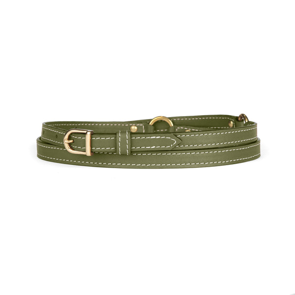 "1/2"" RING BELT in Loden Napa"