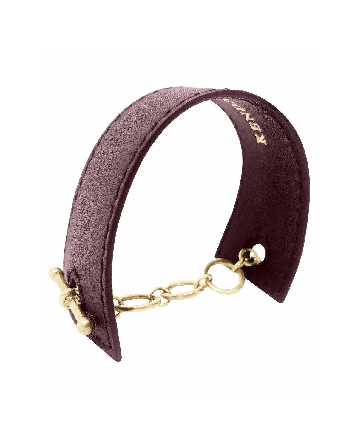 SAMARA CUFF in Chocolate Napa