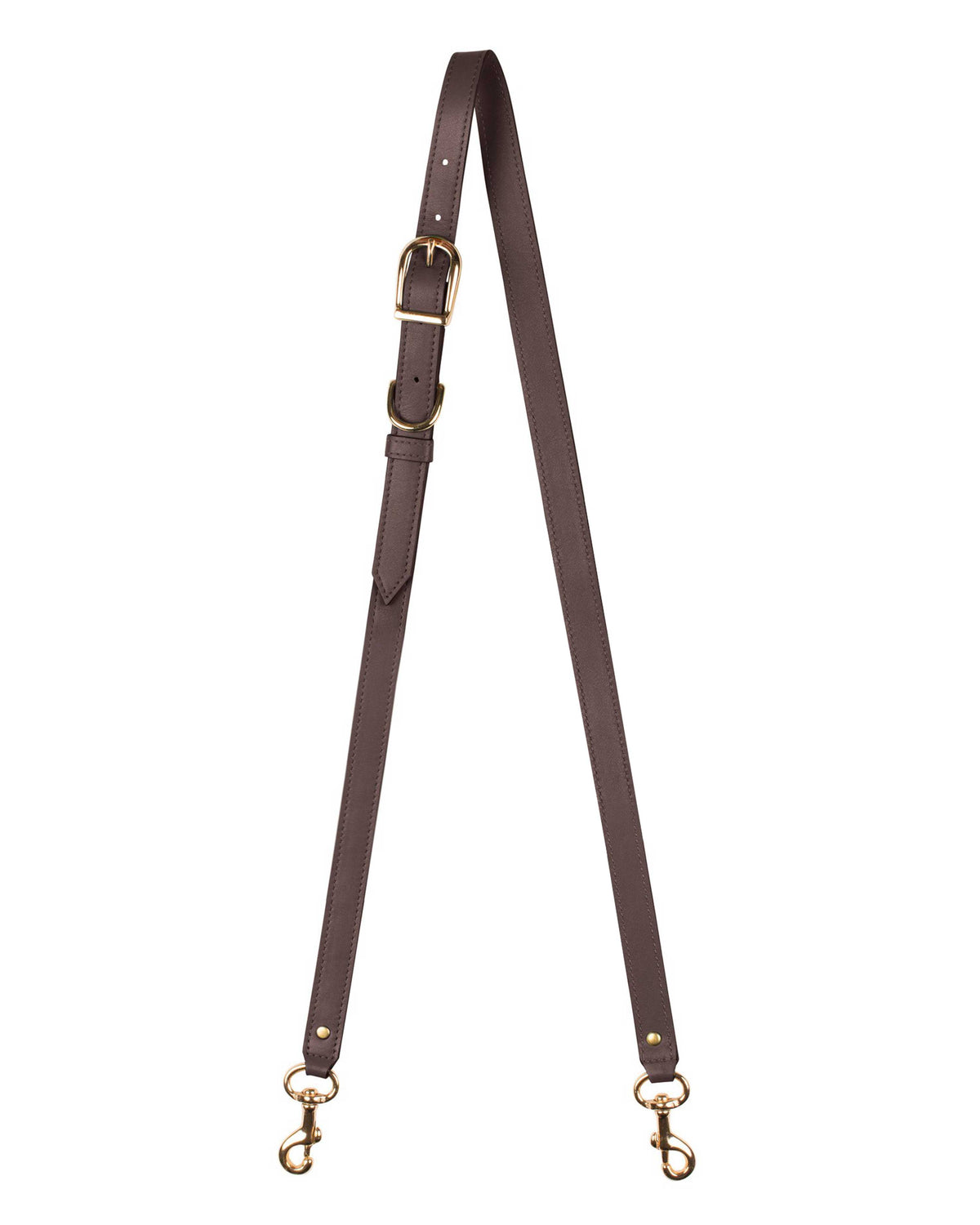 "3/4"" CROSSBODY STRAP in Chocolate Napa"