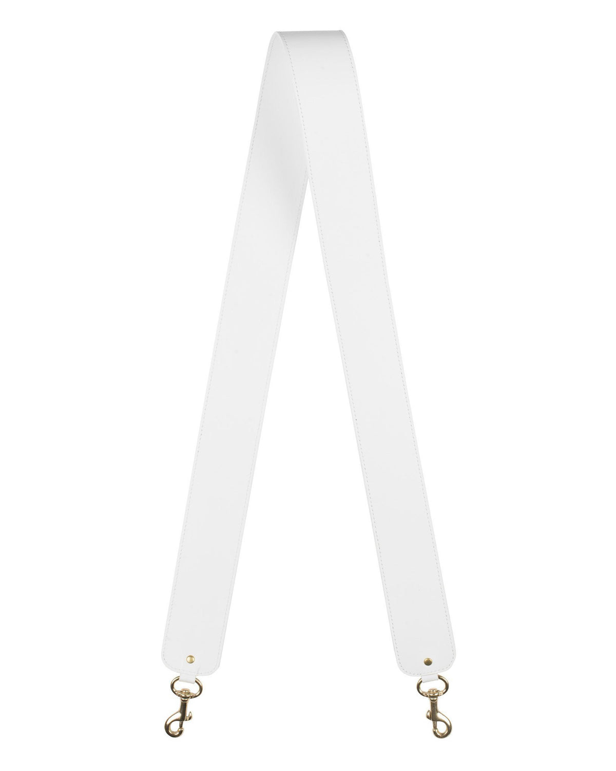 "2"" CROSSBODY STRAP in White Napa"