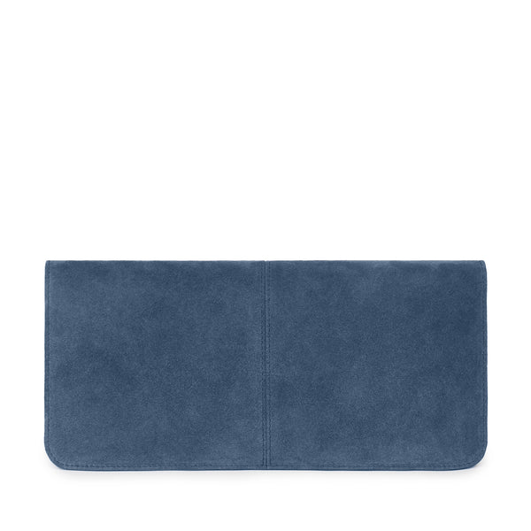 VIDA CLUTCH in Denim Suede