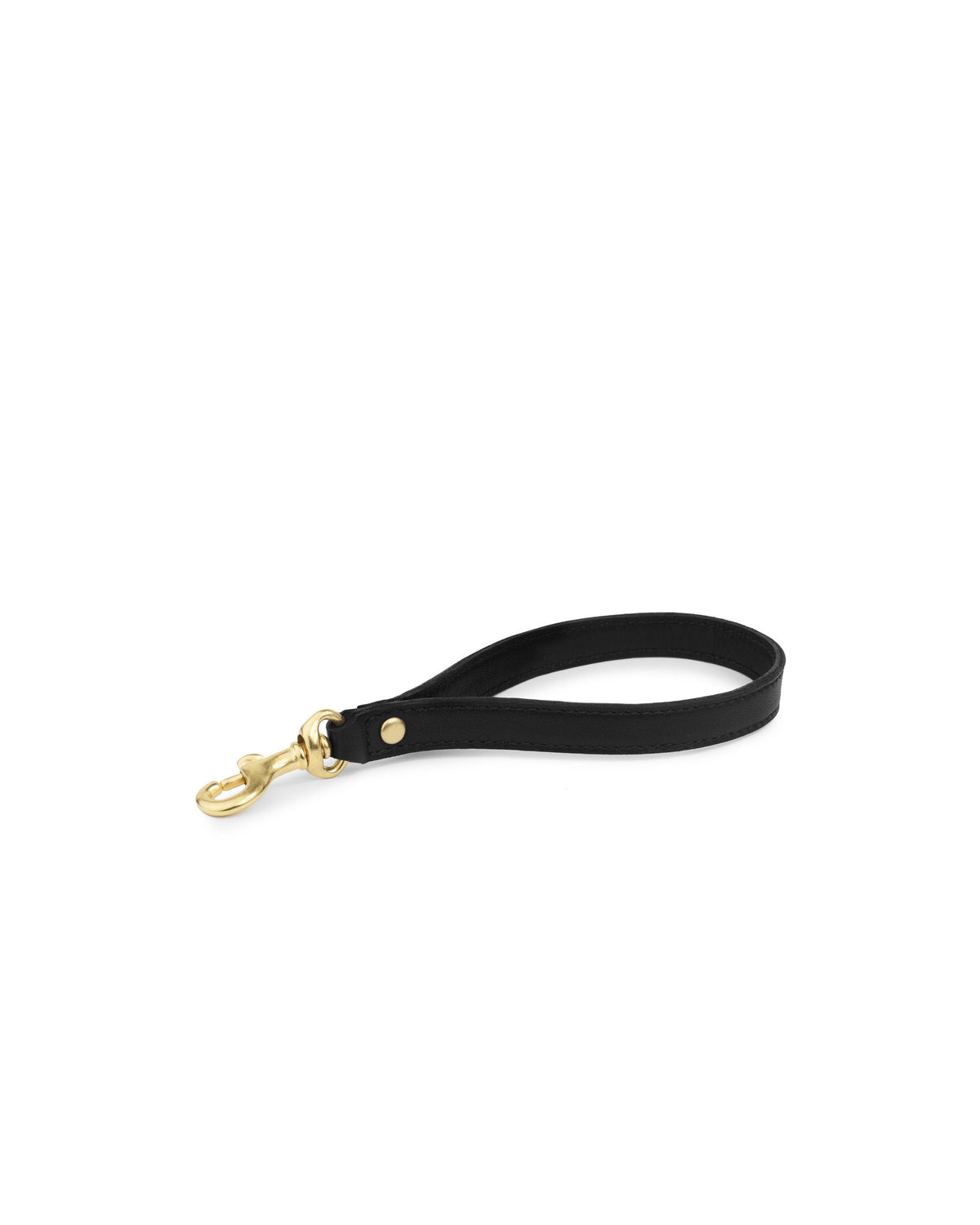 WRIST STRAP in Black Napa