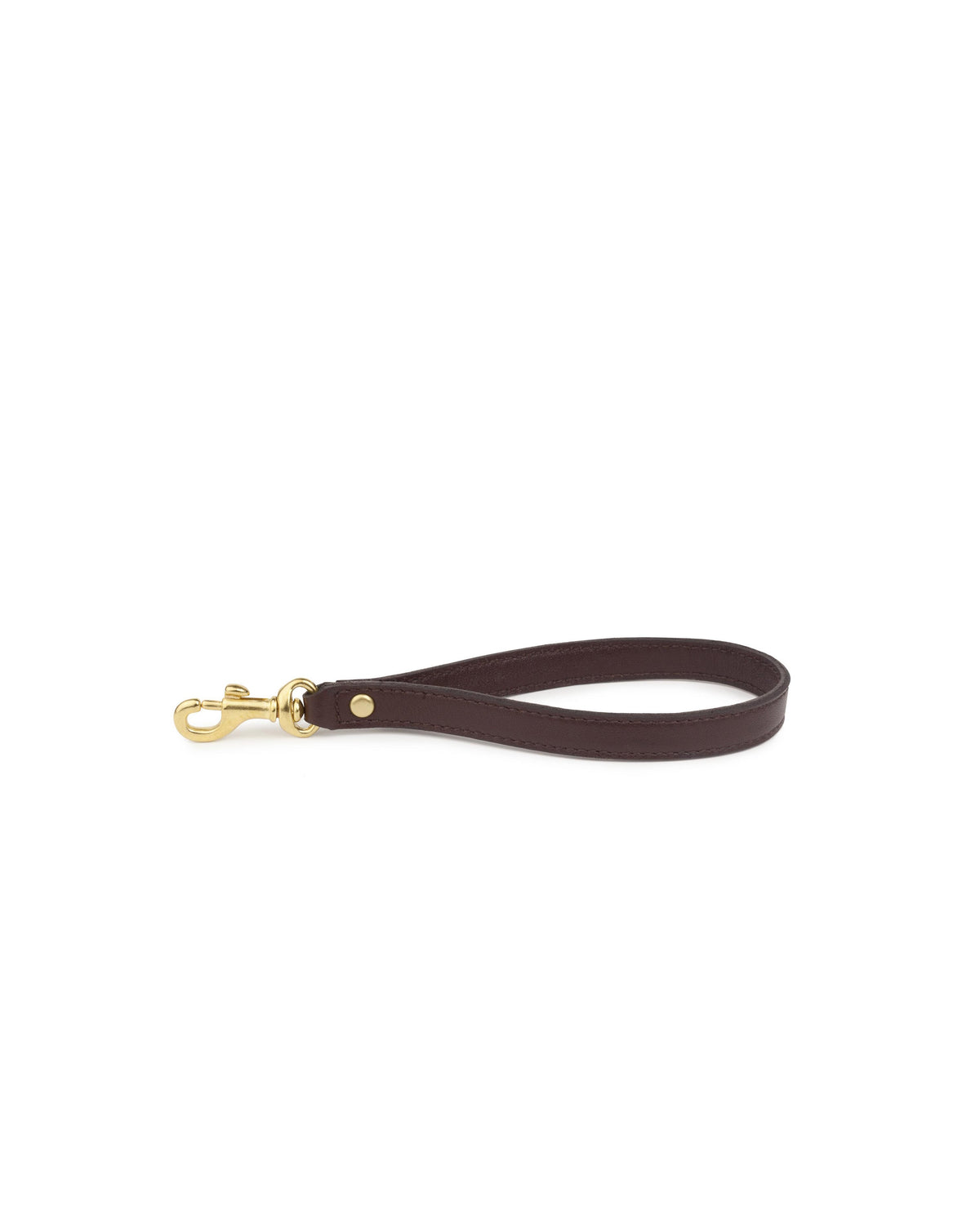 WRIST STRAP in Chocolate Napa