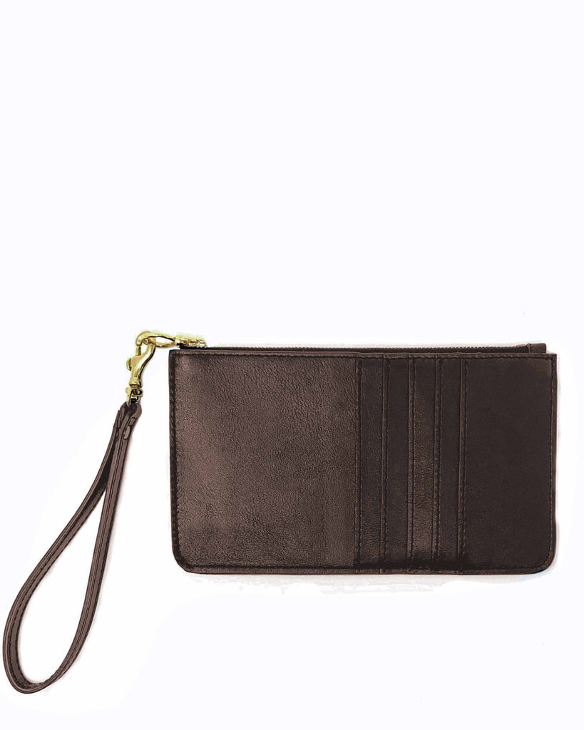 BOLSILLO PHONE WALLET in Chocolate Napa